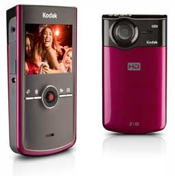 KODAK Zi8 Pocket Video Camera - Raspberry