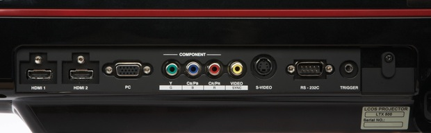 Anthem LTX 500 Projector Inputs