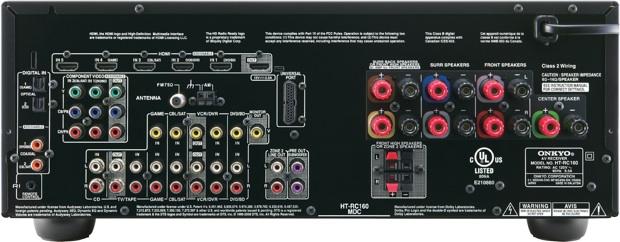 Onkyo HT-RC160 A/V Receiver - Back