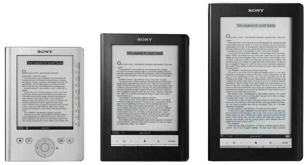 Sony Reader Comparison