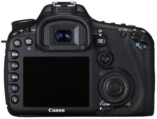 Canon EOS 7D Digital SLR Camera - Back