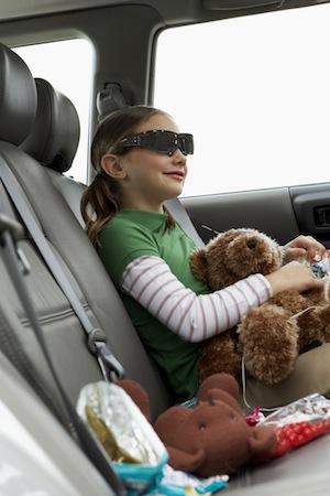 Wearing Vuzix Wrap 310 Widescreen Video Eyewear