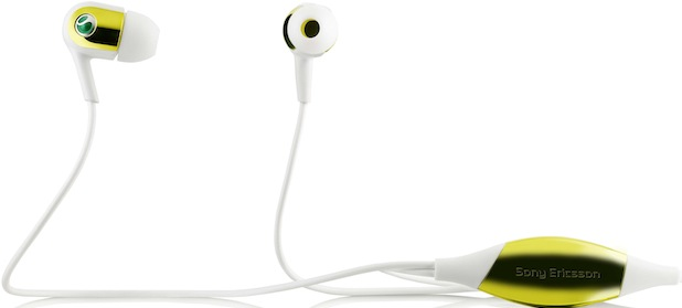 Sony Ericsson MH907 Motion Activated Headphones - Yellow