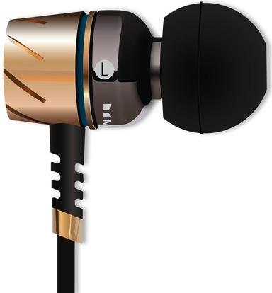 Monster Turbine Pro In-Ear Headphones - Side View in Gold