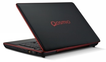 Toshiba Qosmio X500 Laptop - Back