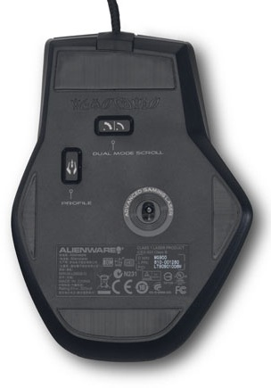 Dell Alienware TactX Mouse - Bottom