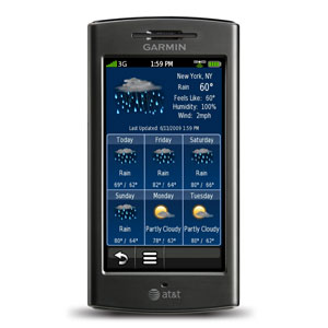 Garmin nuvifone G60 - Weather