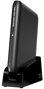 WD My Passport Elite Portable Hard Drive on Stand