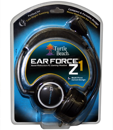 Turtle Beach Ear Force Z1 Gaming Headset Packaging