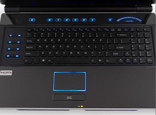 BFG Technologies Deimos X-10 SLI Gaming Notebook PC - Keyboard
