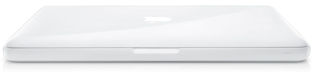 Apple White MacBook MC207LL/A - Closed
