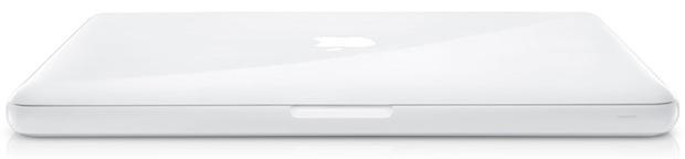 Apple White MacBook MC207LL/A - Closed
