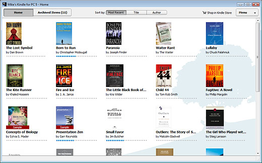 Amazon Kindle for PC Screenshot