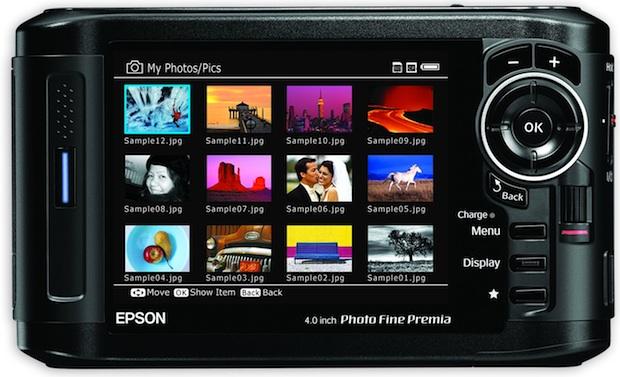 Epson P-7000 Multimedia Photo Viewer - Back