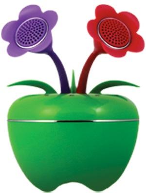 Speakal iPom Apple Shaped Speakers - Green