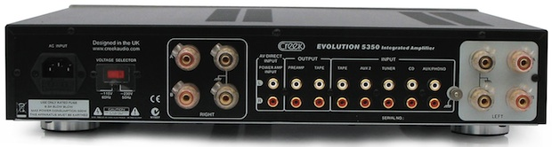 Creek Audio Evolution 5350 Integrated Amplifier - Rear
