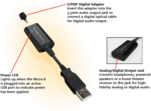 turtle beach amigo ii and micro ii usb sound adapters