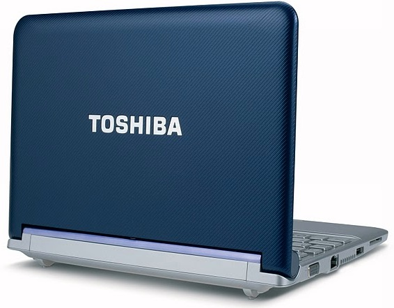 Toshiba mini NB305 Netbook - Back