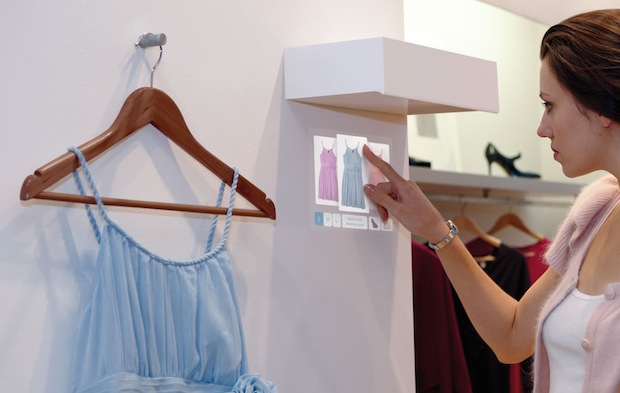 Light Touch Interactive Projector in Clothing Boutique