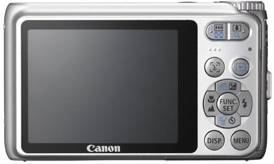 Canon PowerShot A3100 IS Digital Camera - Back