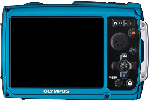 Olympus STYLUS TOUGH-3000 Waterproof Digital Camera - Back