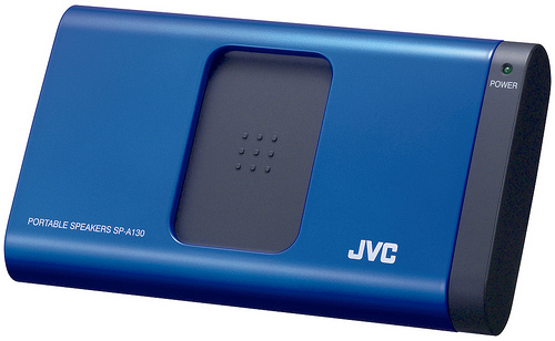 JVC SP-A130 Portable Speakers - Blue Open