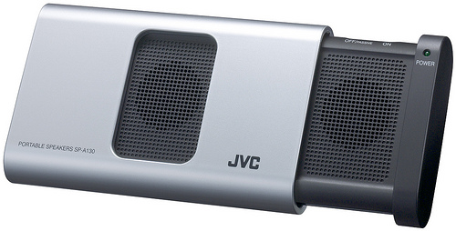 JVC SP-A130 Portable Speakers - Silver