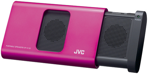 JVC SP-A130 Portable Speakers - Pink
