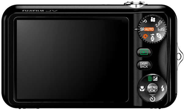 FujiFilm FinePix JV100 Digital Camera - Back