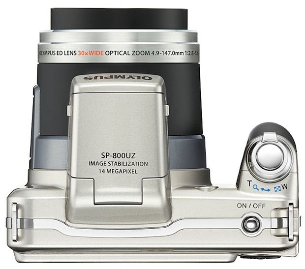 Olympus SP-800UZ Digital Camera - top