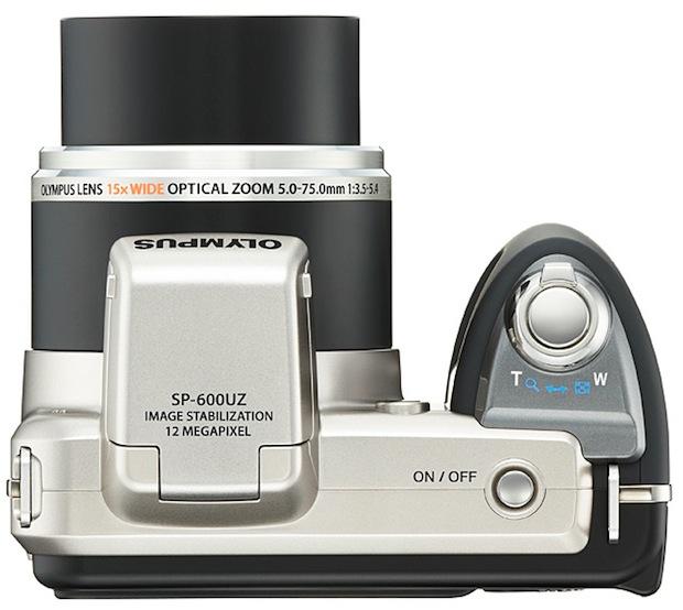 Olympus SP-600UZ Digital Camera - top