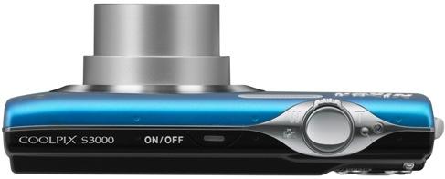 Nikon Coolpix S3000 Digital Camera - top