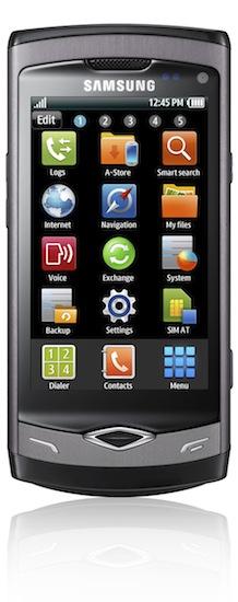Samsung Wave S8500 Smartphone - front