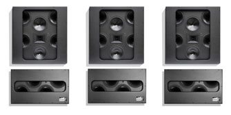 A Spitfire Cinema 4-2-1 speakers and subwoofers