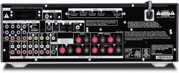 Sony STR-DN1010 3D Compatible AV Receiver - Rear