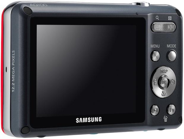 Samsung AQ100 Waterproof Digital Camera - Back