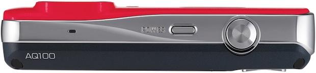 Samsung AQ100 Waterproof Digital Camera - Top