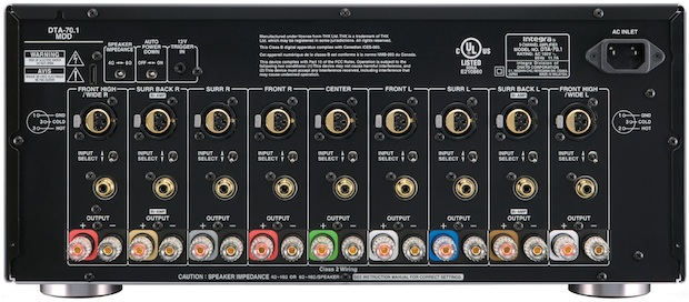 Integra DTA-70.1 Multichannel THX Amplifier - Back