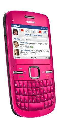 Nokia C3 Smartphone - Hot Pink
