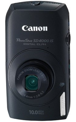Canon PowerShot SD4000 IS Digital Camera - Black
