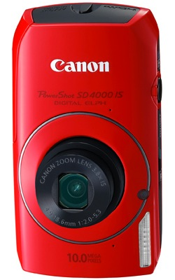 Canon PowerShot SD4000 IS Digital Camera - Red