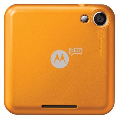 Motorola FLIPOUT with MOTOBLUR Smartphone - Back Saffron