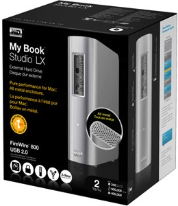 WD My Book Studio LX External Hard Drive Packaging