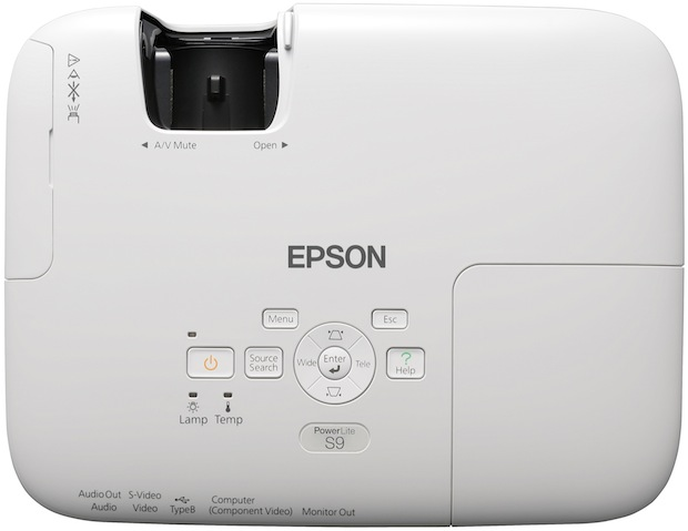 Epson PowerLite S9 3LCD Projector - Top View