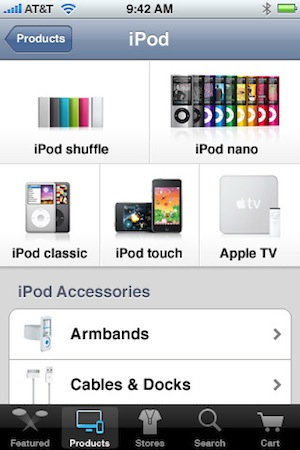 Apple Store App iPod