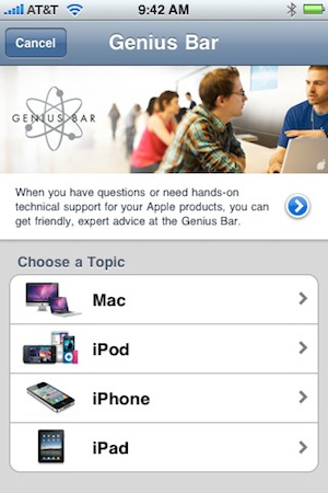 Apple Store App Genius Bar