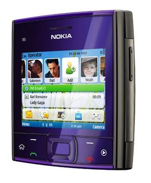Nokia X5 Smartphone - Purple