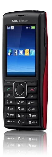 Sony Ericsson Cedar Cell Phone - Red Front