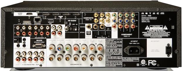 Anthem MRX 700 AV Receiver - Rear