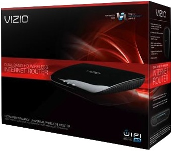 VIZIO XWR100 Dual Band HD Wireless Internet Router Packaging